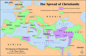 Rome World Map by The Spread Of Christianity Bible History Online