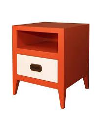 Shaker Style Nightstand Orange Nightstand