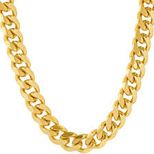 fashion necklace gold images Lifetime jewelry cuban link chain 9mm round 24k gold jpg