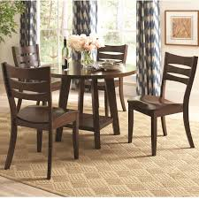 coaster byron round dining table with shelf value city furniture