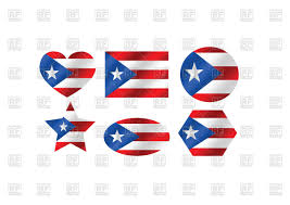 Puerto Rico Flag Design Elements With Puerto Rico Flag Royalty Free Vector Clip Art