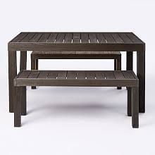 Patio Table And Bench Patio Dining Sets U0026 Outdoor Dining Sets West Elm