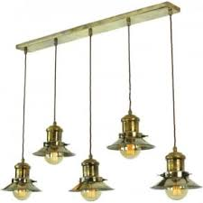 Nautical Kitchen Lighting Hanging Kitchen Island Light With 3 Nautical Style Antique Brass