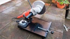 Harbor Freight Bench Grinder Stand Make Your Own Large Angle Grinder Stand And Metal Chop Saw Youtube