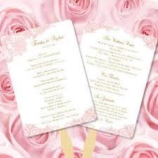 Diy Fan Programs Fan Wedding Programs