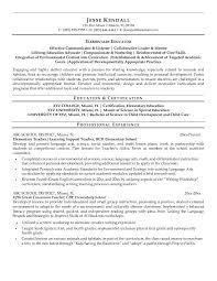 Sample Resume For Teaching by Educator Resume Resume Templates