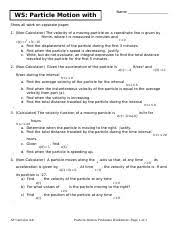 cp phys web rev ch 7 name class date id a cp physics web review