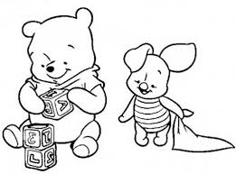 baby pooh bear coloring page free download