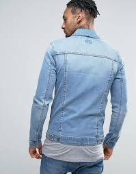 Light Jean Jacket Asos Asos Super Skinny Denim Jacket In Light Wash