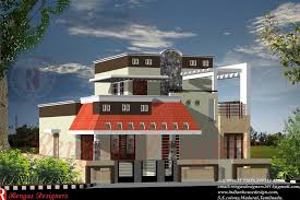 duplex kerala house plan elevation arts ideashome sq ft with