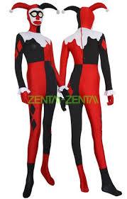 Goldust Halloween Costume Harley Quinn Costume Black Red Spandex Lycra Zentai Suit Jpg