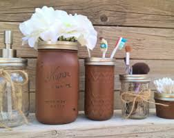 mason jar bathroom set bathroom decor housewarming