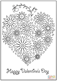 happy valentine u0027s day coloring page free printable coloring pages