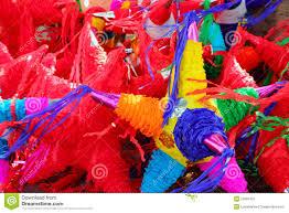 pinatas shape mexican traditional celebration royalty free