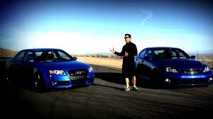 lexus or audi more reliable shoot out lexus isf vs audi rs4 youtube