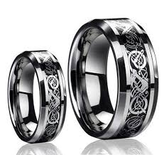 Wedding Rings Sets For Him And Her by Amazon Com His U0026 Her U0027s 8mm 6mm Tungsten Carbide Celtic Knot