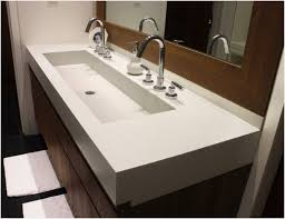 trough sink two faucets trough bathroom sink two faucets searching for sinks awesome
