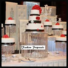 wedding cake stand wedding cake stand cascade waterfall set of 9 wedding