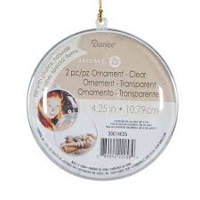 clear plastic fillable ornament disc shape 4 25 inches