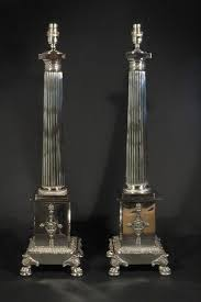 Silver Nightstand Lamps Antiques Atlas Empire Style Silver Table Lamps
