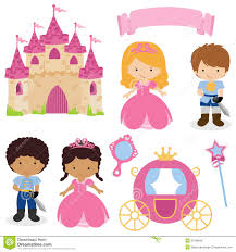 cute princess and prince fairy tale royalty free stock photos