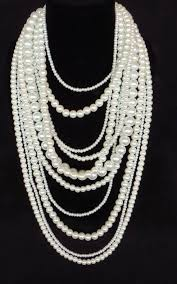 multi pearl necklace images Multi strand pearl necklace jpg