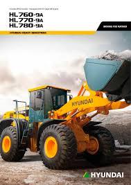 hl780 9a wheel loader hyundai heayy industries pdf catalogue