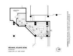 retail shop floor plan brahmin handbags atlanta photos design drawings mandarina studio