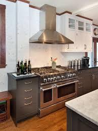 white upper cabinets dark lower cabinets vintage kitchen