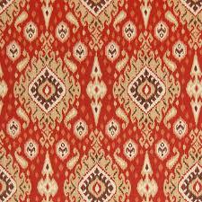 Upholstery Fabric Southwestern Pattern Brick Red Ikat Medallion Southwest Cotton Print Upholstery Fabric