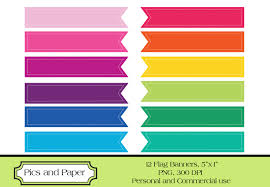elements clipart ribbon banner template pencil and in color