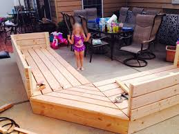 Plans For Wood Deck Chairs by Pallets Patio Project Pallet Style Outdoor Platform Sectional
