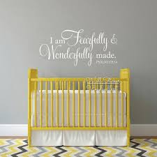 20 inspirations fearfully and wonderfully made wall art wall art i am fearfully wonderfully made quotes wall decal baby room with regard to fearfully and