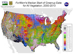 Us East Coast Map Researchers Map Seasonal Greening In U S Forests Fields And