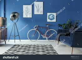 black white patterned carpet trendy blue stock photo 624821414