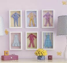 interior wall decoration using clothes empty picture frames