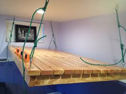 Bed Alternatives Small Spaces Hanging Loft Bed Maximizing The Space Of Small Rooms Modern