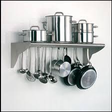 etagere murale pour cuisine étagère murale contemporaine en acier inoxydable pour cuisine