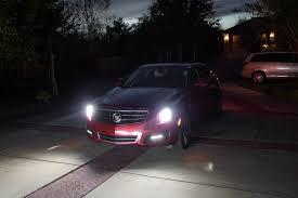 cadillac ats headlights hid led headlights