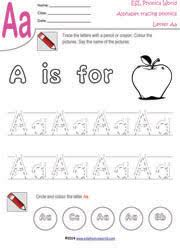 alphabet handwriting tracing worksheets trace letters a z
