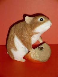 garden resin ornament farm friends hamster ebay
