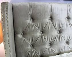 Grey Upholstered Headboard Furniture Compact Love Bedroom Silver Tufted Headboard Bedroom