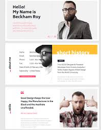 Best Interactive Resume Builder by 15 Best Html Resume Templates For Awesome Personal Sites