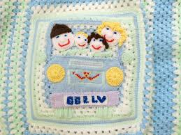 crochet baby blanket picture v w van baby boy gift