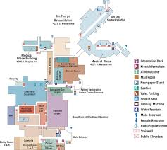 floor plan of cafeteria navigating the hospital integris