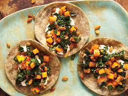 butternut squash recipe for thanksgiving butternut squash kale and crunchy pepitas taco from u0027tacolicious