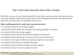 Sales Associate Objective Resume Best Cover Letter Sample For Sales Associate Pictures Podhelp