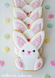 rabbit cookies sprinkle y pink easter bunny cookies cookie connection