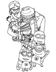 84 love minions images coloring pages funny