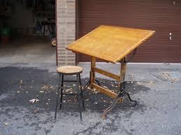 Vintage Wooden Drafting Table Drawing Desk Diy Playful Diy Kids Furniture For Drawing Table